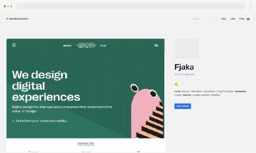 9 Inspiración en el diseño web Mejor galería de sitios web