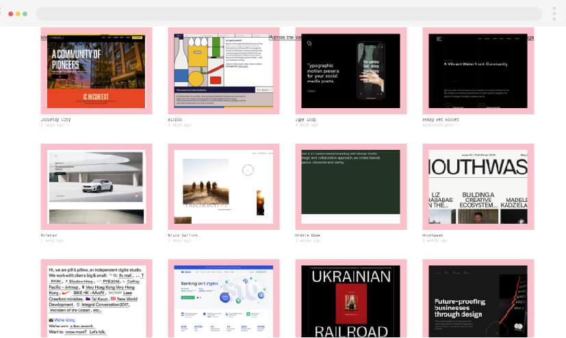 10 inspiración para el diseño web Admire Web