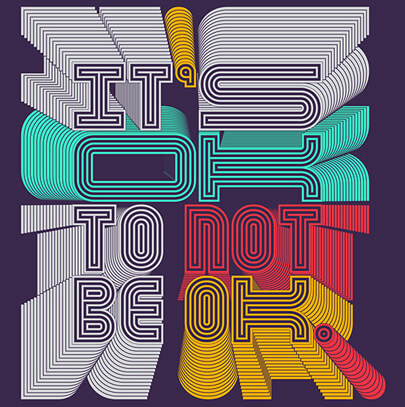 Amazing typography design with a chaos