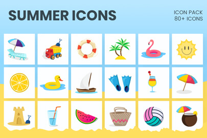Ultimate Summer Icons Set