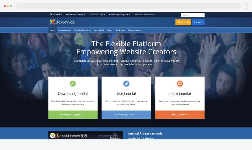 Las mejores alternativas a WordPress: CMS Joomla 2021