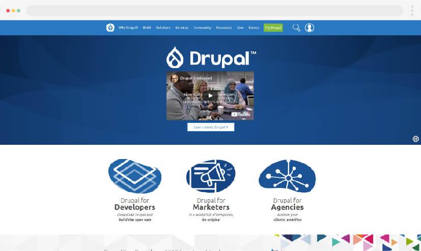 Las mejores alternativas a WordPress: Drupal en 2021