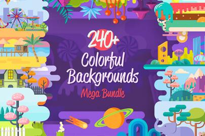 240 Colorful Backgrounds - Mega Bundle