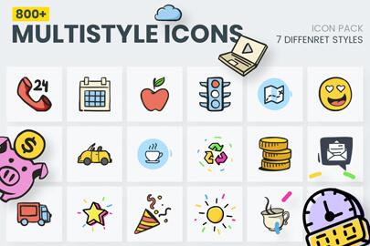 800+ Multi Style Icons - Mega Bundle