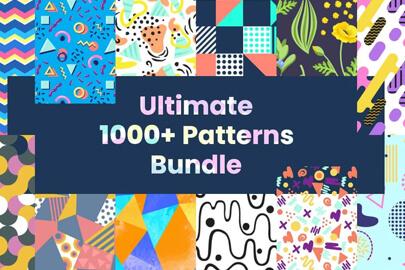 1000+ Seamless Pattern Designs Mega Bundle
