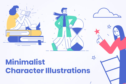 Minimalist Character Illustrations Collection - Modern Flat Style