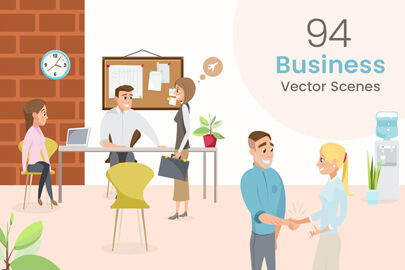Business Vector Scene Illustrations Collection