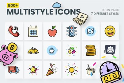Cartoon Vector Icons Mega Bundle