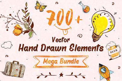 Vector Hand-Drawn Elements - Mega Bundle