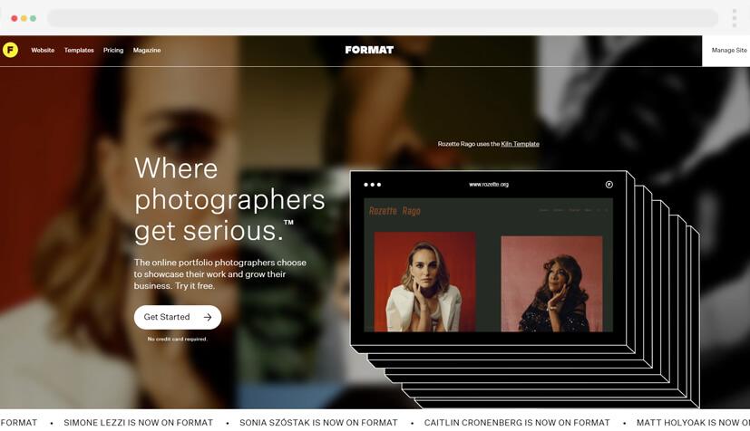 Formato de la plataforma CMS en 2021 para fotógrafos