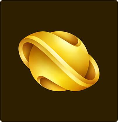 Пример тенденции дизайна 3D-логотипа бренда Nebula