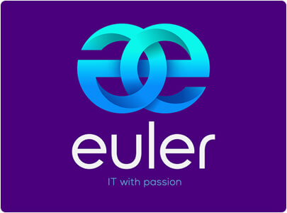 Эйлер - дизайн в стиле 3D-логотипа в тренде 2021 года