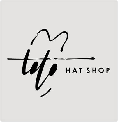 Toto Hat Shop - logo design with ink