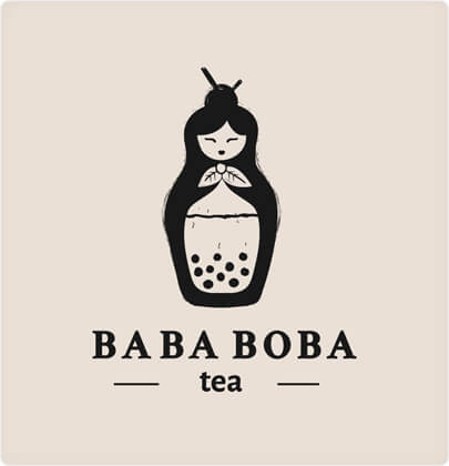 Baba Boba Tea - Shop Logo Design in 2021 with Ink
