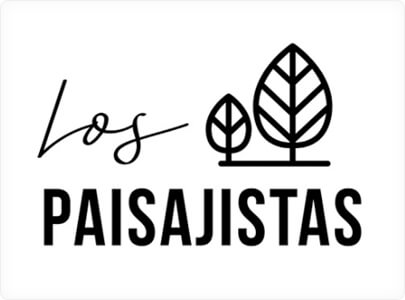 Los Paisajistas Logo design example with nature motives