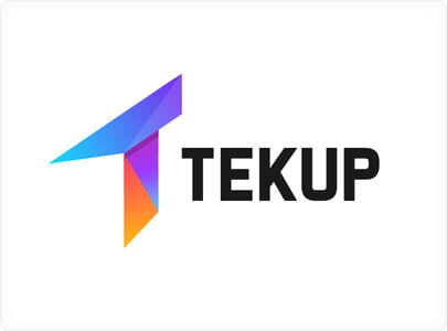Tekup - Logo design with bright vivid colors in 2021