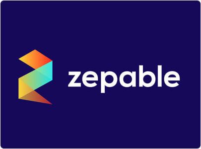 Zepable - Colorful modern logo design in 2021