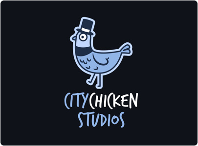 Chicken logo example with fun cartoon logo design in 2021