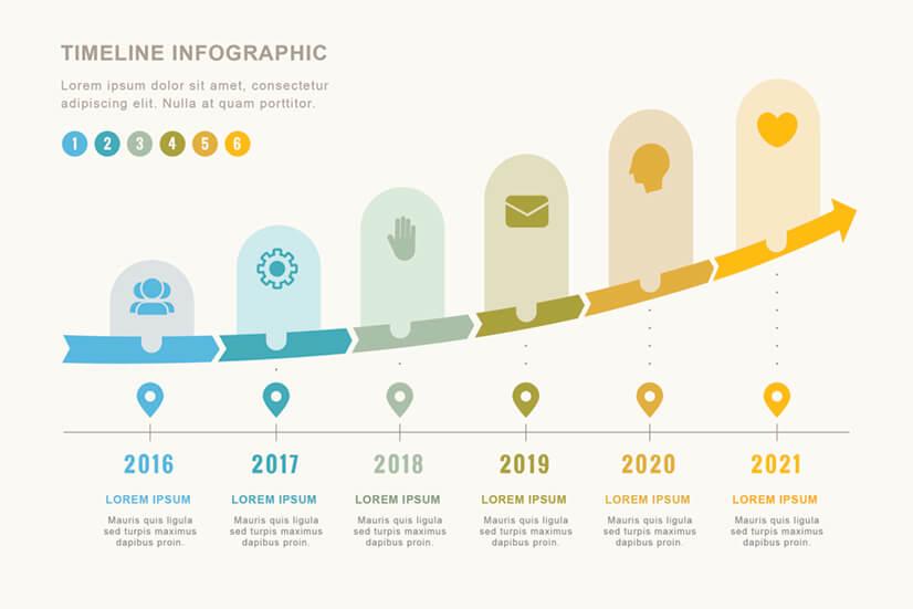 Free Modern Timeline Infographic