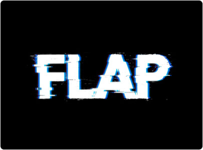 Flap - Glitch Logo Design in 2021