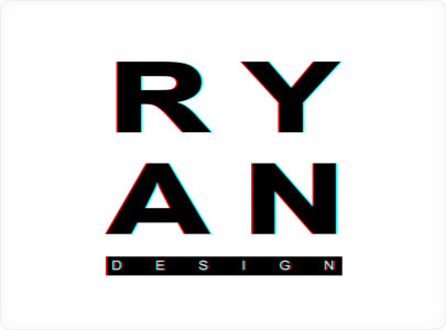 RYAN Glitch Logo Design 2021