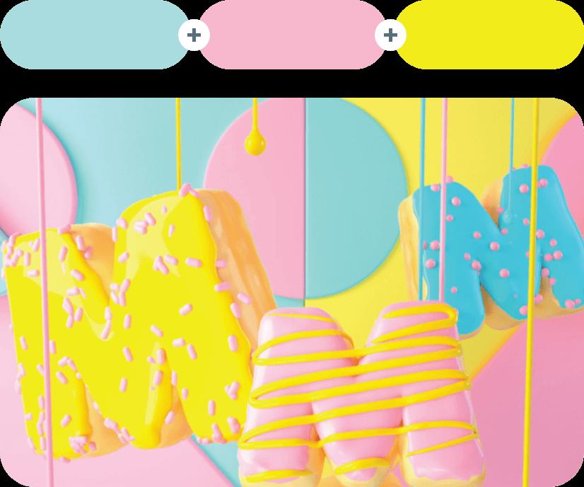 Aqua Island +Illusion +Ripe Lemon Color Combination