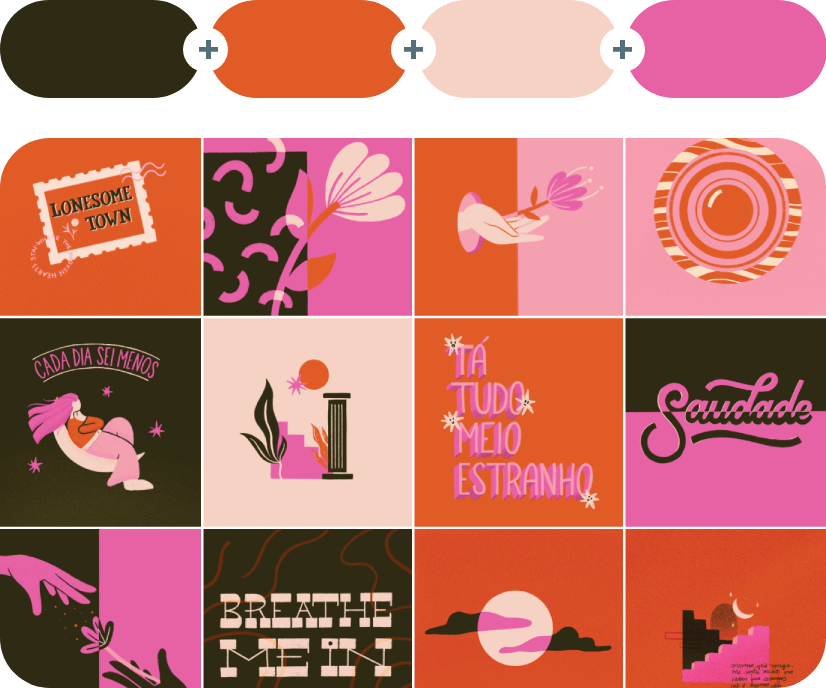 Mikado +Hot Cinnamon +Mandys Pink +Deep Blush Color Combination