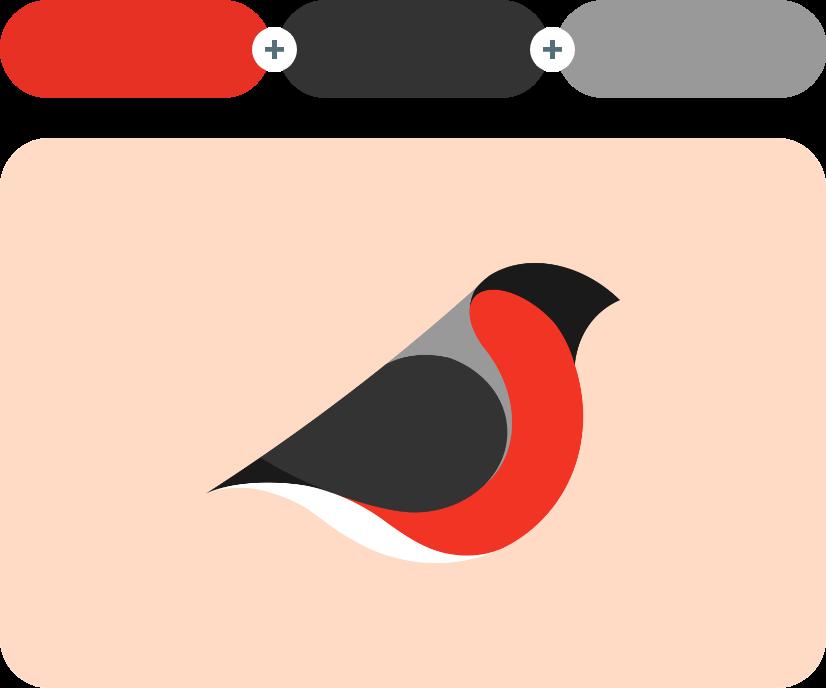 Alizarin Crimson +Mine Shaft +Dusty Gray - Red Combination