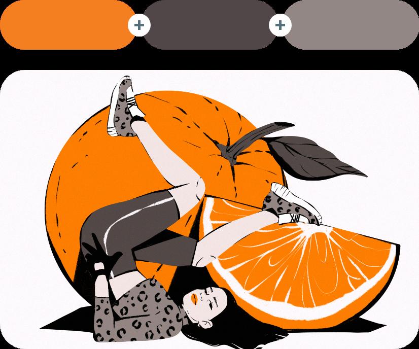 Tango +Emperor +Schooner - Orange Combination