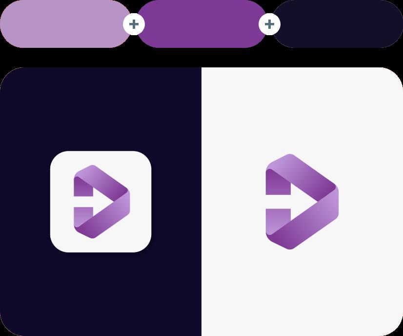 East Side +Vivid Violet +Ebony - Violet Combination