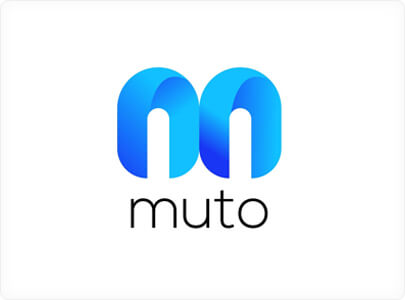 Muto - Modern logo design with gradients in 2021