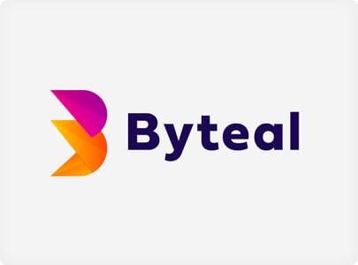 Byteal - пример современного дизайна логотипа