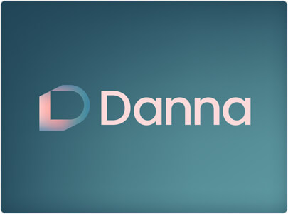 Danna Soft Gradient Colors Logo Design Example from Trends in 2021