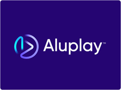 Aluplay Logo Design With Modern Gradient Colors in 2021