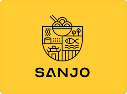 Sanjo Food Logo Design in 2021