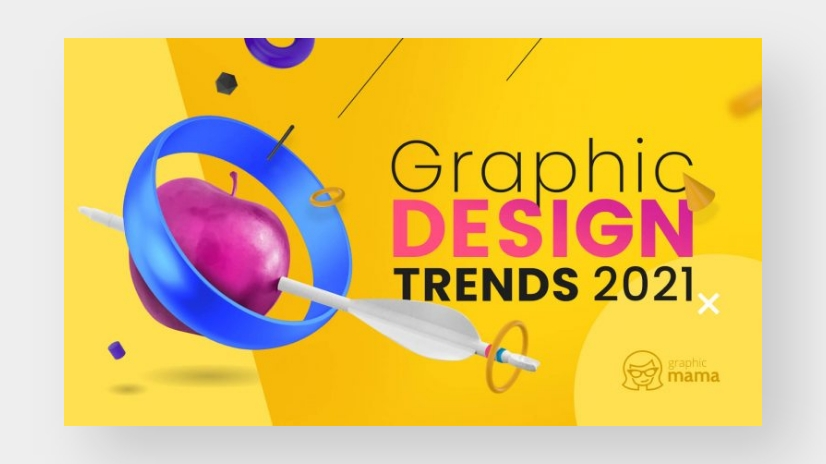 Graphic Design Trends 2021 Blog Article by GraphicMama