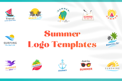 Summer Logo Templates Bundle