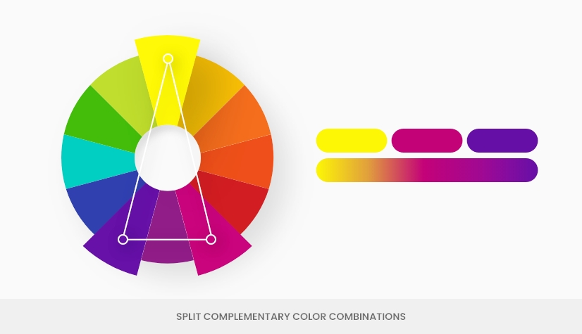color theory split complemetary color combination