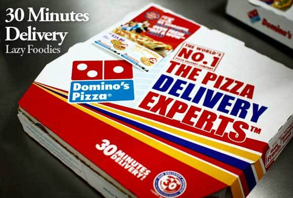 30 minutes delivery - Dominos offer