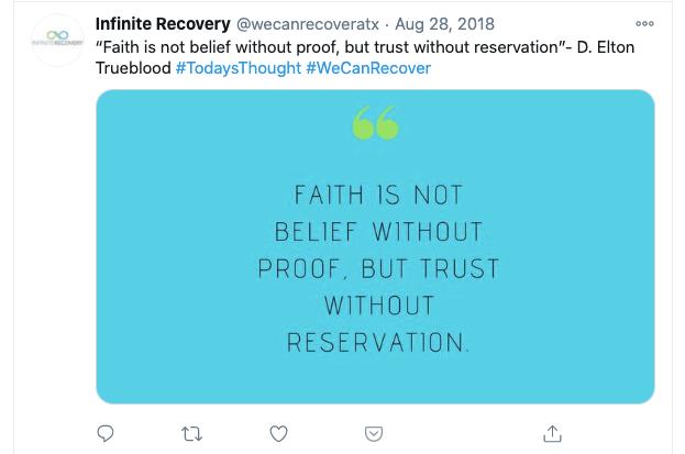 Infinite Recovery - Twitter