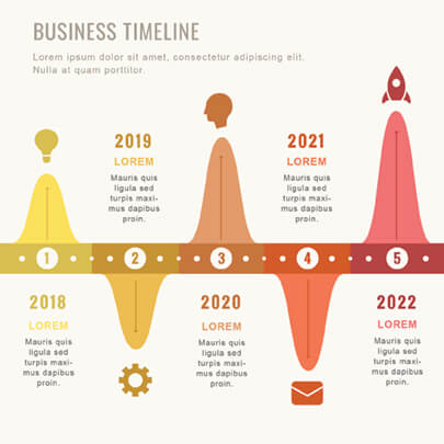 Free Colorful Timeline Infographic Template