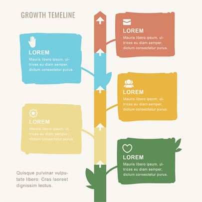 Hand-Drawn Style Infographic Timeline Template