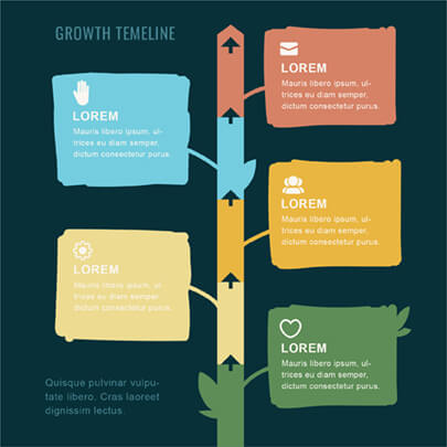 Hand-Drawn Style Infographic Timeline Template - Dark