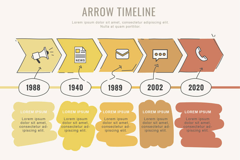Free Timeline Infographic Template with Arrows