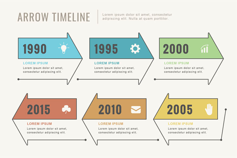 Arrows by Years Free Timeline Infographic Template