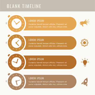 Free Blank Timeline Infographic Template Light