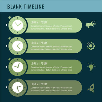 Free Blank Timeline Infographic Template Dark