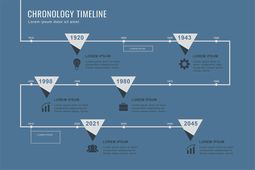 Free Chronology Timeline Infographic Template
