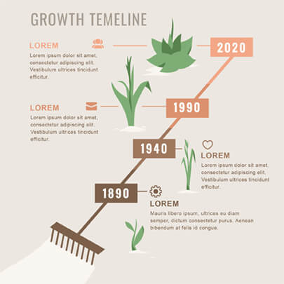 Free Growth Timeline Progress Infographic Template