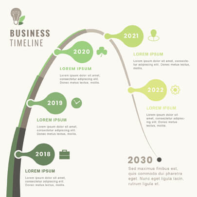 Free Green Business Infographic Template